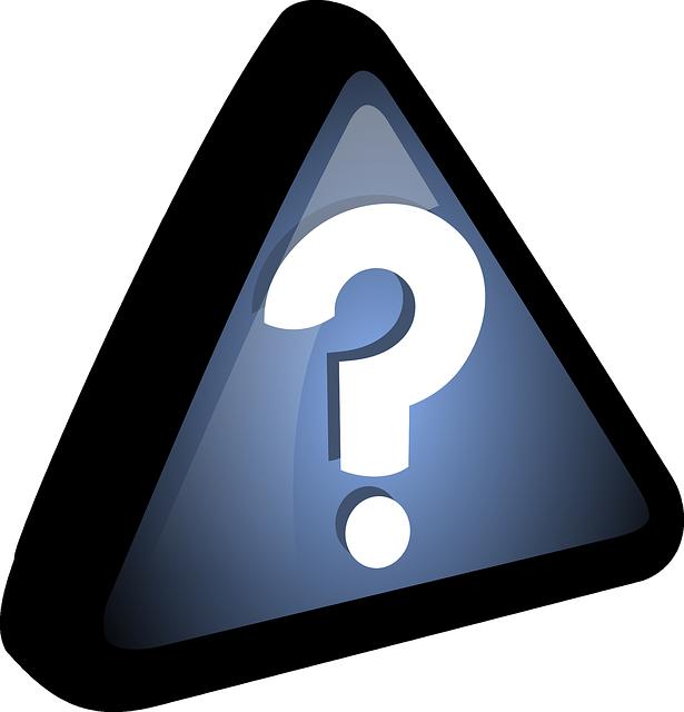 question mark inside a triangle - CollegeMarker