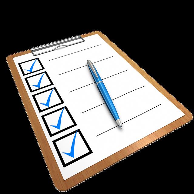 checklist representation - CollegeMarker
